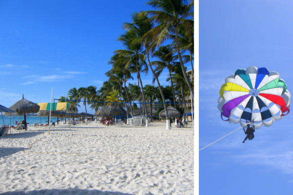 Aruba-Palm Beach-parasailen-strand-watersporten
